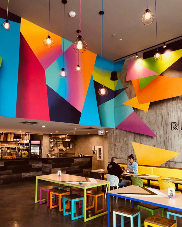 Colourful Interior of Reset Cafe