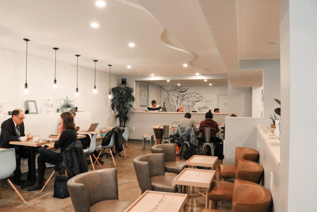 Interior of Commonwealth Coffee Shop