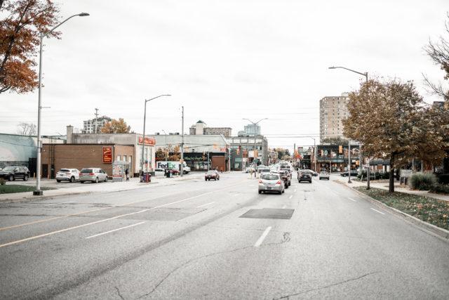Driving down Richmond Row
