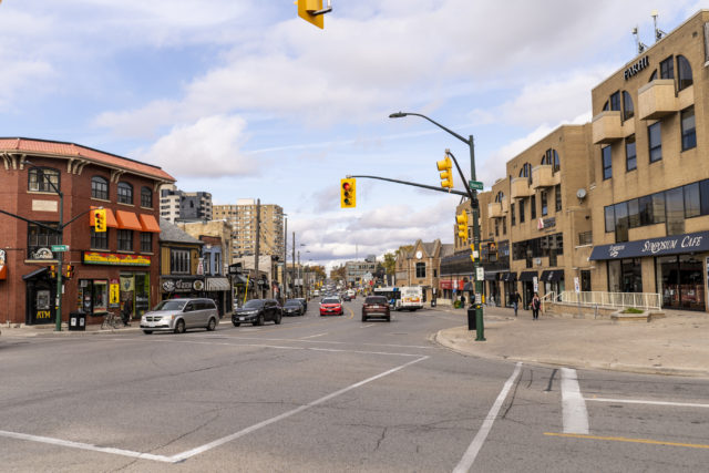 Streetscape of Richmond Row